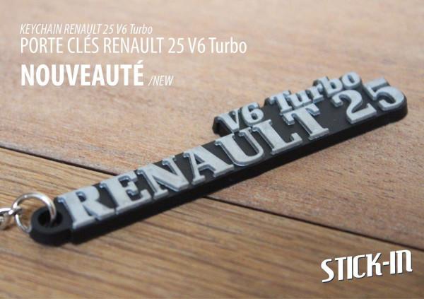 Porte clés PVC Souple Renault 25 V6 Turbo R25