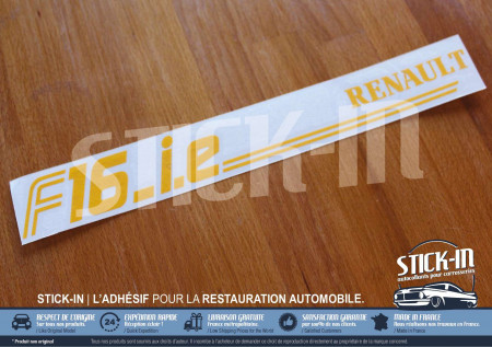 Autocollant restauration cache bougies F16ie | Renault Clio Williams 16S 16V & R19 16S 16V
