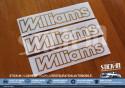 3 stickers monograms Renault Clio Williams phase 1 gold