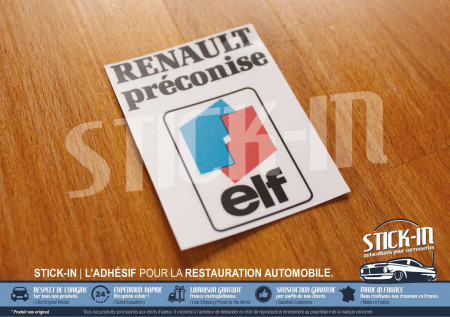 Autocollants Renault Préconise ELF Clio Williams 16V R21 R19 R5 R25 R11