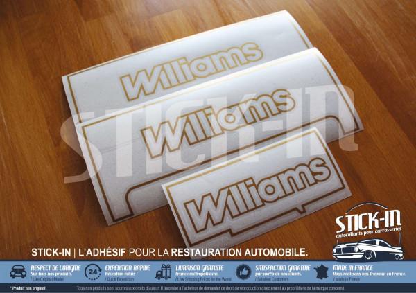 Autocollants monogrammes Renault Clio Williams phase 1 gabarits de pose