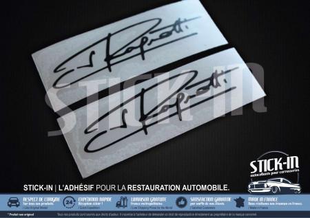 2 Autocollants Stickers Signature Jean Ragnotti