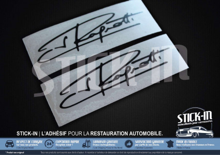 2 Stickers Decals Signature Jean Ragnotti