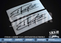 2 Stickers Decals Signature Jean Ragnotti