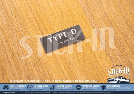 Autocollant Stickers Type D Bocal Liquide Refroidissement Clio Williams 16S Moteur