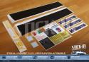 Full set restoration 17 stickers Renault Clio Williams Fase 2