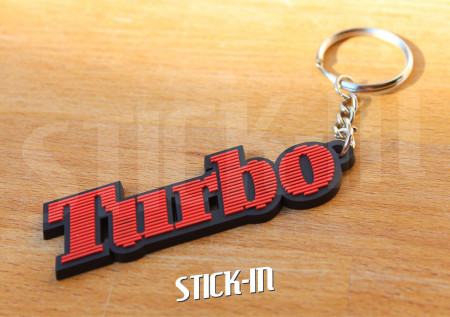 Keychain Renault 5 Alpine Turbo Red Black Keyring
