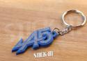 Keychain Renault 5 Alpine A5 Turbo Grey Blue Keyring Logo