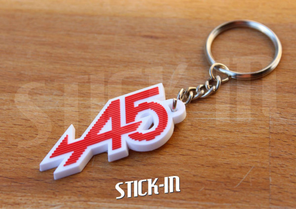 Keychain Renault 5 Alpine A5 Turbo Red White Keyring Logo