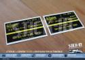 RENAULT CLIO COUPE CUP 16S - Paire Autocollants DE CARBON Suspensions AVANTS Delco - Gauche et Droite