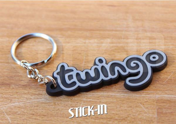 Keychain Logo Renault Twingo Monogramm Badge Soft PVC Keyrings Black