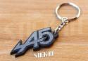 Porte Clés - Renault 5 Alpine Turbo A5 - Gris & Noir - Logo Stickers Autocollants Aile Monogramme Carrosserie