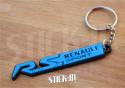 Porte Clés - Renault Sport RS - Bleu - Badge Monogramme Coffre Logo PVC Souple