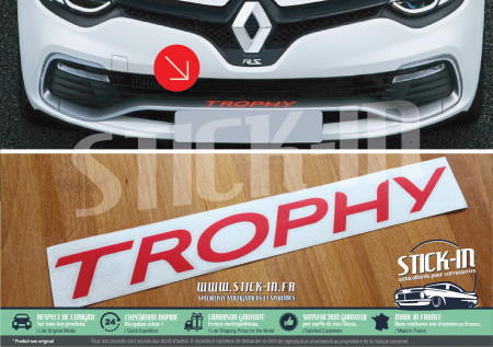 Autocollants Stickers Renault Clio 4 RS EDC TROPHY 220 Parechoc