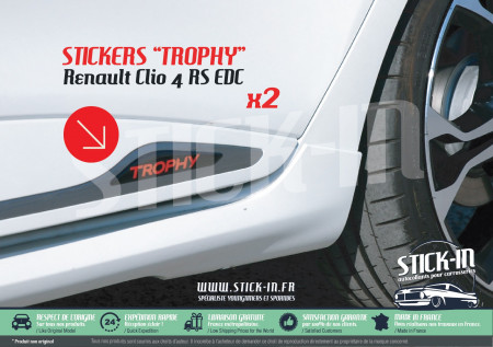 Renault Clio 4 RS EDC TROPHY 220 Stickers Autocollants Bas Portes