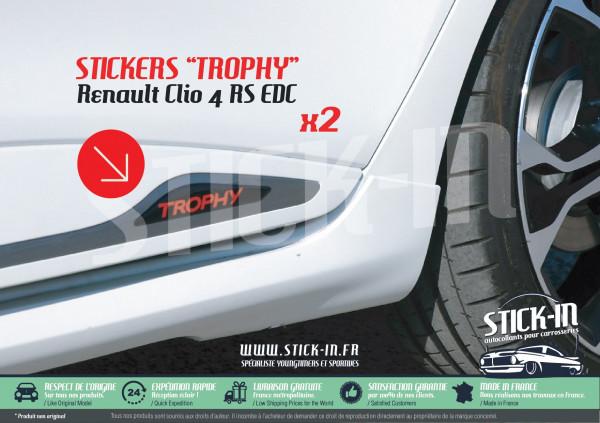 Renault Clio 4 RS EDC TROPHY 220 Stickers Doors Decals Rear