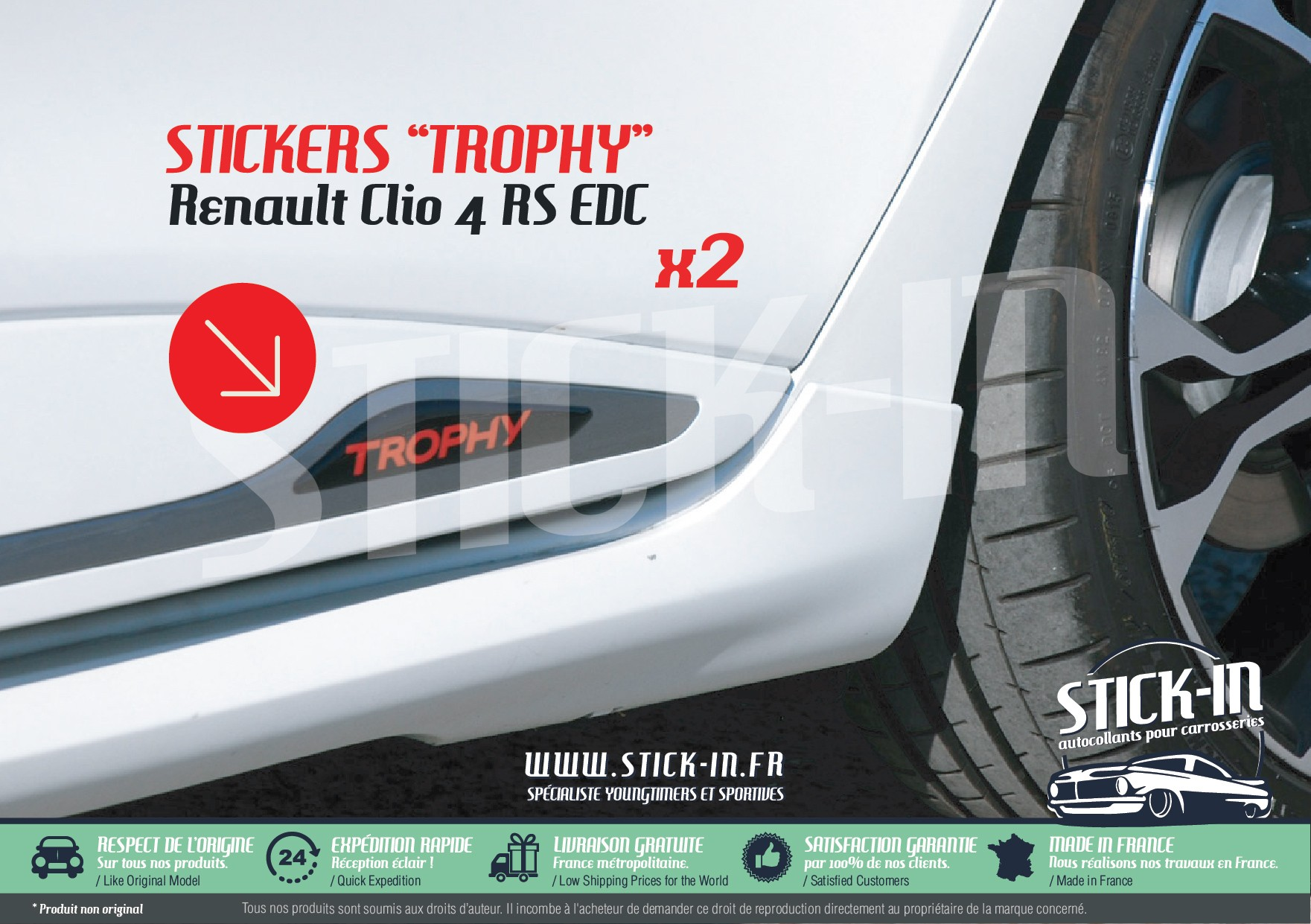 Renault Clio 4 Rs Edc Trophy 220 Stickers Doors Decals Rear Stick In Www Stick In Fr