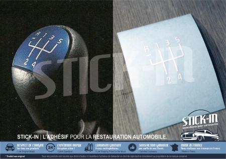 Autocollant Rénovation Pastille Grille + Numéros Pommeau de Vitesses | Renault Clio 2RS Ragnotti 172