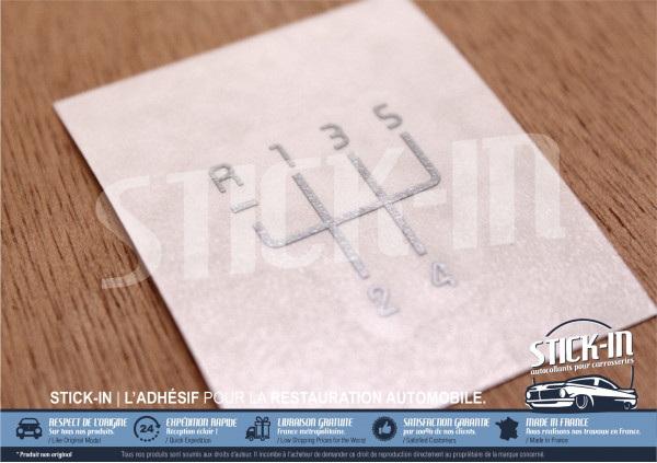 Autocollant Rénovation Pastille Grille + Numéros Pommeau de Vitesses | Renault Clio 2 RS 172
