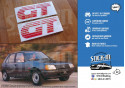 PEUGEOT 205 GT 2 stickers monograms front wings