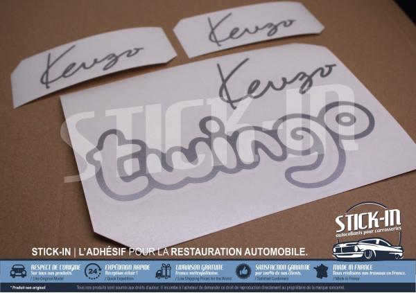 Renault Twingo 1 Kenzo (1995) 3 Autocollant Stickers Coffre Ailes Avant Répétiteur Logo