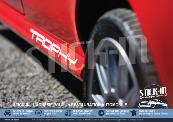 "2 Stickers Decals Side Skirts ""TROPHY"" 