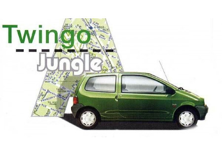 Renault Twingo 1 Jungle Stickers Front Wings Logo