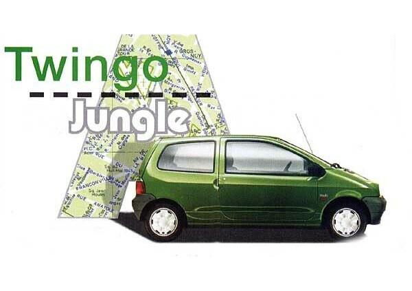 Renault Twingo 1 Jungle Autocollant Stickers Ailes Avant Répétiteur Logo