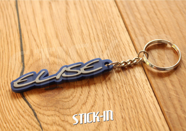 Keychain Logo Lotus Elise Mk1 S1 Blue 111S Badge Soft PVC Keyrings Sport