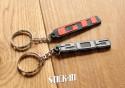 Pack 2 Porte Clés - Peugeot 205 + GTI - PVC souple monogrammes logos