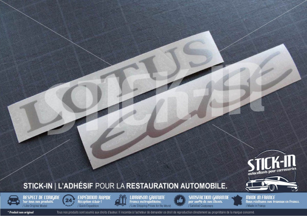 Stickers Rear Clamshell Lotus Elise S1 decal silver grey