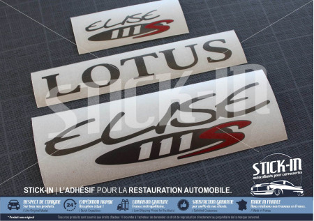 Lotus Elise S1 111S Stickers decals Red Graphite
