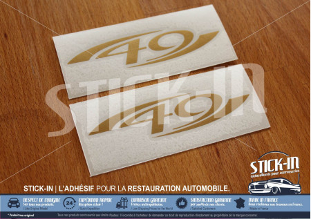 Stickers Lotus Elise S1 type 49 Gold Sides Front Clamshell Decal