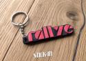 Keychain - Peugeot 205 Rallye 1.3 - soft PVC keyrings monograms badges logos