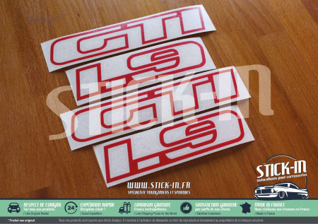 Peugeot 205 GTI 1.9 1900 Stickers Monograms Logo Repair Kit Cutodes