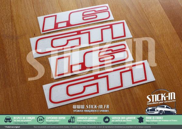 Peugeot 205 GTI 1.6 1600 Autocollants Stickers Monogrammes Custodes