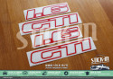 Autocollants Stickers Peugeot 205 GTI 1.6 1600 Monogrammes Custodes