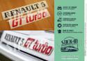 Autocollants Stickers Renovation Logos Badges Monogrammes Arrières Renault 5 GT Turbo R5 GTT Noir Rouge