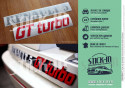Renovation Monogrammes Autocollants Stickers Renault 5 GT Turbo Gris Argent Rouge