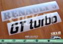Stickers Renovation Monogrammes Renault 5 GT Turbo R5 GTT Gris Argent & Noir