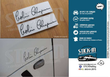 Autocollants Stickers Colin Chapman Signature Lotus Elise Exige Evora