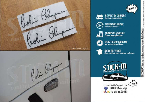 Signature Colin Chapman 2 Autocollants Stickers Decals Lotus Elise Exige Evora