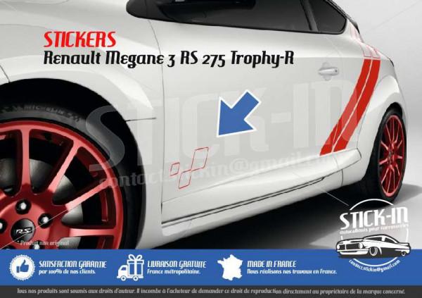 Renault Megane 3 RS TROPHY-R 275 Stickers Autocollants Portes Doors Decals