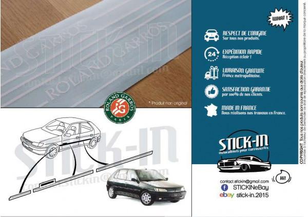 Peugeot 306 Roland Garros Autocollants Stickers Kit Carrosserie 5 portes