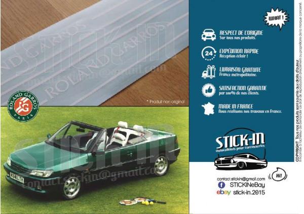 Peugeot 306 Roland Garros Cabriolet Autocollants Stickers Kit Carrosserie