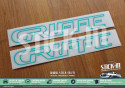 Peugeot 205 GTI Griffe Autocollants Stickers Monogrammes Custode Logo Enjoliveur Renovation