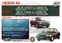 Peugeot 205 Cabriolet Roland Garros Paris Stickers Decals