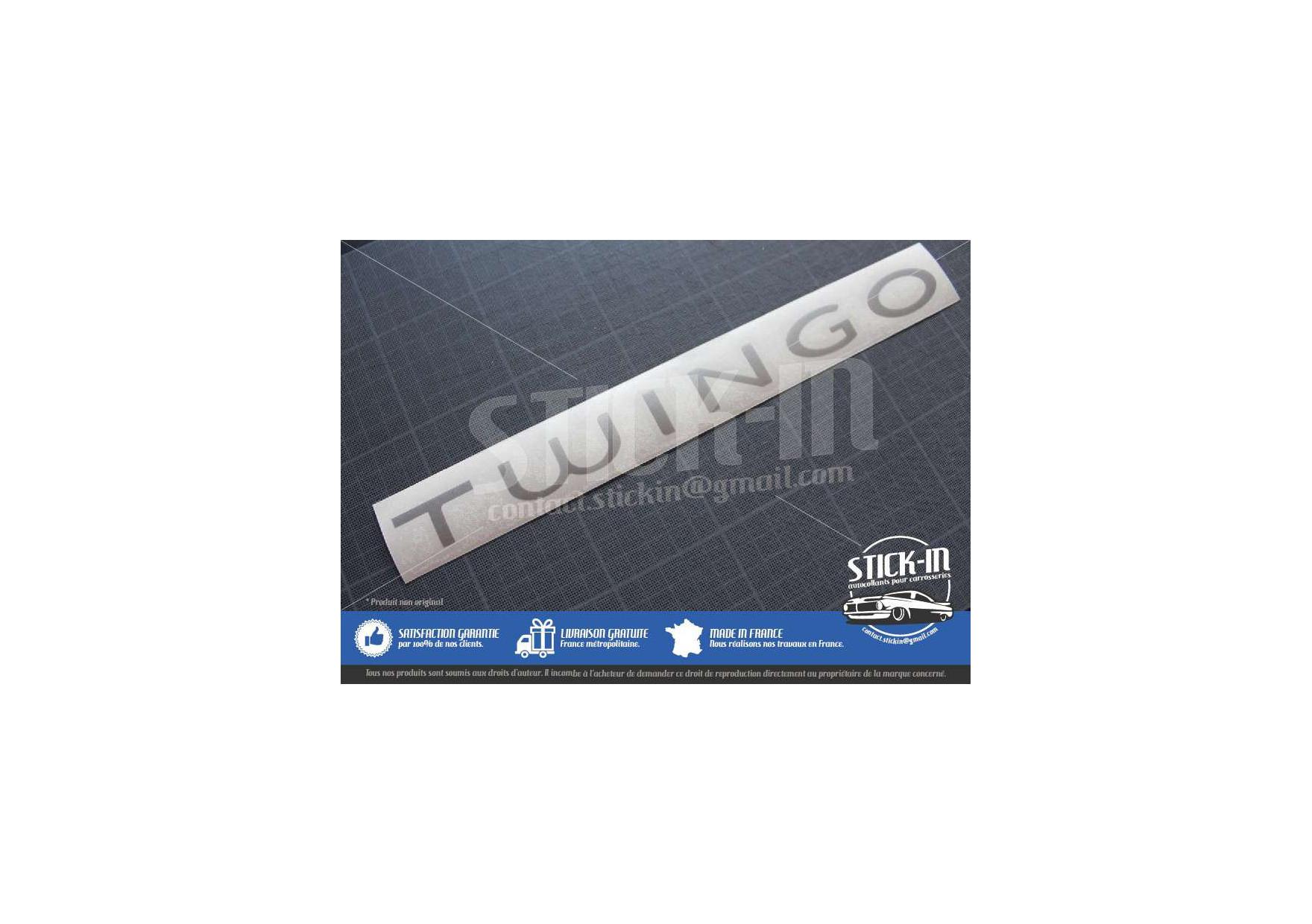 Autocollant stickers renault twingo 2 monogramme coffre for Autocollant mural francais