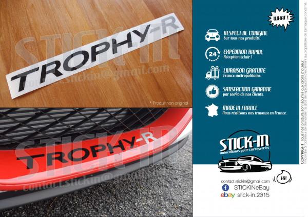 Stickers Autocollants Renault Sport Megane 3 RS TROPHY-R 275 Parechoc Front Bumper