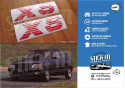 PEUGEOT 205 XS 2 stickers monograms front wings